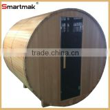 High quality luxury traditional wooden sauna,outdoor red cedar barrel sauna,outdoor saunas for sale