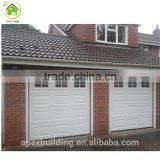 Automatic garage door window inserts