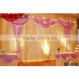2016 Latest wedding drape backdrops;Beautiful stage backdrop for wedding events&party(BD-006)