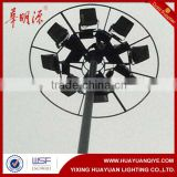 15m, 20m, 30m lift type High mast lighting pole Vertical mounted telescopic mast light tower lighting pole/tower price