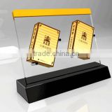 Chinese factory acrylic cigarette display cabinet stand rack with personal logo