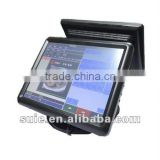 15inch Pos system cash register all in one touch screen computer for Retails and Restaurant Dual touch screen