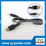 USB 2.0 To Male Plug Jack 3.5mm Male AUX Audio Adapter Converter Cable