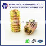 Custom in factory brass double thread no head screw
