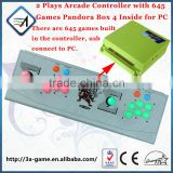 Arcade Joysticks Buttons Controller Kit with 2 in 1 Mutli Mode Pandora Box 4 Jamma 645 in 1 Game Board and Play PC Game Online