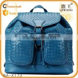 2015 brand designer woven genuine leather school bag ladies leisure bag                                                                         Quality Choice