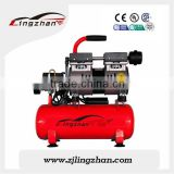 Lingzhan Tiazhou factory portable mini oil-free air compressor, 550W dental air compressor