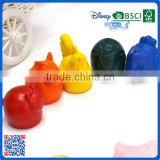2016 new design 3D animal shaped crayons for drawing for school children
