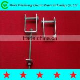 2015 hot-selling hebei manufacturer hot dip galvanized D bracket / D iron with bolts and nuts for pole line hardware