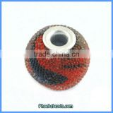 Wholesale Red & Black Round Resin Indonesia Necklace Beads PCB-M100559