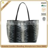 100% cowhide real leather handbag women tote bag lady office bag custom genuine leather handbag manufacture made in China