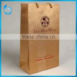 DryRed wine paper box DryRed wine paper bottle bag with nylon handle setoff package for wine