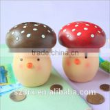 custom 6 inch mushroom shaped piggy banks with no hole unopenable ,custom made piggy banks baby toy