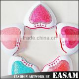 2015 9W heart shape with rhinestone professional convenient nail art LED lamp