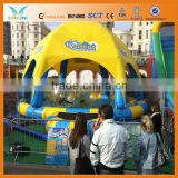 Hot sale plastic swimming pools with canopy use water ball,boat