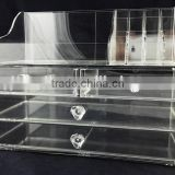 Customized acrylic 4 drawer & clear makeup organizer