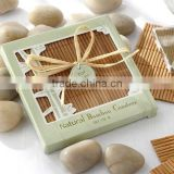 Wedding Natural Bamboo Eco-Friendly Coaster Favors