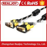 New 1.5m wholesale 1.26 price gold plated copper clad steel male to male 14+1 dvi to Dvi cable