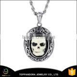 High polish 316L stainless steel skull Pendant, fashion metal pendant