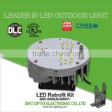 Patent design 45w UL cUL DLC list led retrofit kit with die-casting aluminum body for North American market