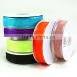 high quality organza satin edged wired ribbon