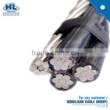 overhead cable aluminium 11kv 33kv abc aerial bundle cable ACSR 4/0 AWG XLPE insulated abc cable