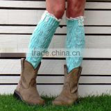 New ladies long socks leg keep warmers/ weaving shoes Cuffs protect leg for Womens