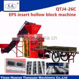 cement block brick machine with poly styrene insert for heat insulation ( Huarun Tianyuan factory)QT4-26