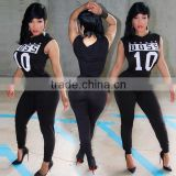 Wholesale 2016 Summer Fashion Women Black Jumpsuit Ladies Adjustable Waist Stretch One Piece Sport Women Jumpsuits 2016