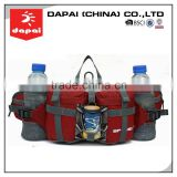 Quanzhou dapai 2015 waist customize fanny pack with water bottle holder wholesale running waist bag