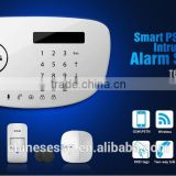 wireless gsm fire alarm system with touch keypad alarm panel for fire alarm,panic alarm,burglar alarm,intruder alarm