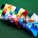 British style fashion gradient color plaid men's socks, stitching stockings socks cotton socks wholesale