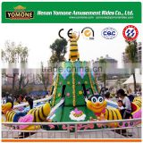 Cheap amusement park rides kids rotary bee rides for sale