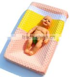 27 Colors Custom Baby Girl Loves Minky Breathable Changing Table Mattress Cover
