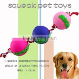 Hot sale dog rope toy,ball with teeth dog toy