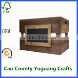 New style wooden wine crates wholesale for design;wooden fruit crates;wooden box storage