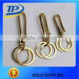 Tuopu solid brass u hooks key holder key ring key chain u hooks hot sale