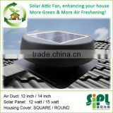 new type solar ceiling fan roof mounted outdoor solar DC powered air ventilation attic fan