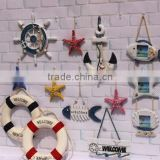CY081 Mediterranean Style Anchors Fish Slipper Boat Shaped Wall Hooks Living Room Hanging Decoration Nautical Decor