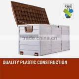 Plastic outdoor garden tools storage box cabinet
