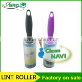 large area carpet cleaning tool sticky lint roller/ remover with a plastic cover