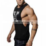 Men's Vivid Gym Tank Tops Low Cut Armholes Vest Sexy Men's Tank Xman Muscle Man's Fitness Sport Suit