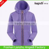 Customized adult's winter windproof polar fleece jacket outdoor activities coat hooded sport swear