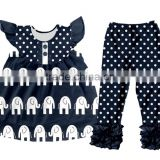 Kids ruffle top pant outfits wholesale children clothing usa