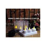 LED Rechargeable Tealights / Votive Flickering Flameless Candles Long Lasting Tea Lights