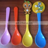 cheap wholesale good quality food grade cartoon character pp spoon for kids