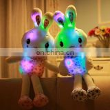 HI CE latest wholesale wonderful flash led light rabbit plush toy,animal led stuffed doll for kids