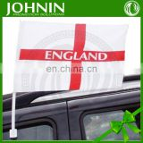 cheap 30*45 polyester window decoration car flag mirror for cheering