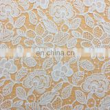OLF2336-1 High quality flower design french wedding deress lace embroidered cotton fabric