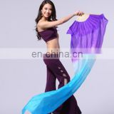 Mixed colorful silk belly dance fan veil for kids and adult with size 1m and 1.5m and 1.8m P-9023#